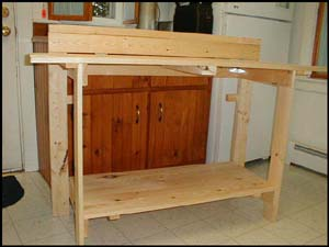 Wall Mounted Fold-Up Workbench