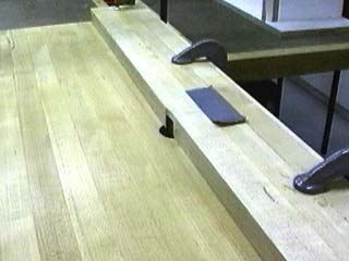 Clean melamine edges by jim mattson to get the best edges relieve the infeed side of your router table fence exactly the amount you need to remove any tearout from normal tablesaw cutting greentooth Gallery