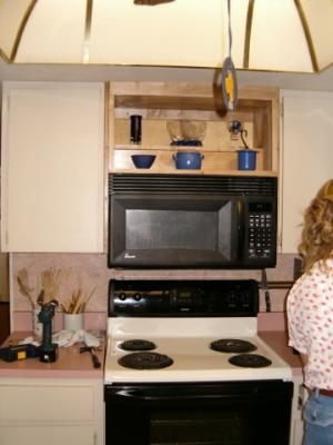 The kitchen display cabinet