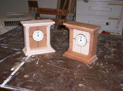Two mantle clocks