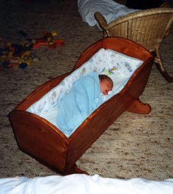 The only shot I have of my son's cradle - 2001